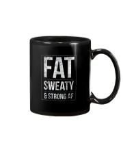 FUNNY POWERLIFTER FAT STRONGMAN POWERLIFTING STRON Mug thumbnail