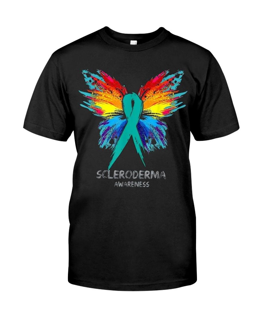 SCLERODERMA AWARENESS SHIRT BUTTERFLY T SHIRT Classic T-Shirt