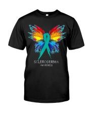 SCLERODERMA AWARENESS SHIRT BUTTERFLY T SHIRT Classic T-Shirt front