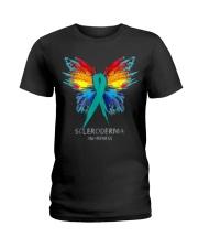 SCLERODERMA AWARENESS SHIRT BUTTERFLY T SHIRT Ladies T-Shirt thumbnail