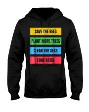SAVE THE BEES FUCK NAZIS ANTI FASCIST ANTIFA FCK N Hooded Sweatshirt thumbnail