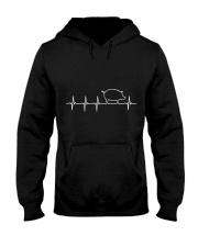 I LOVE MY PIG HEART VALVE EKG HEARTBEAT T SHIRT Hooded Sweatshirt thumbnail