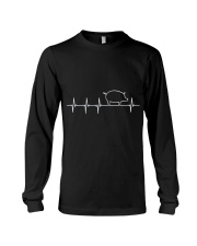 I LOVE MY PIG HEART VALVE EKG HEARTBEAT T SHIRT Long Sleeve Tee thumbnail