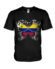 VENEZUELA FLAG SHIRT VENEZUELAN FLAG BUTTERFLY V-Neck T-Shirt thumbnail