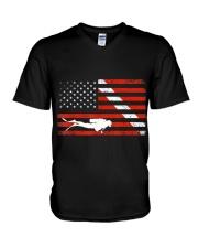 DIVER DOWN DIVE FLAG TSHIRT SCUBA DIVING AMERICAN  V-Neck T-Shirt thumbnail