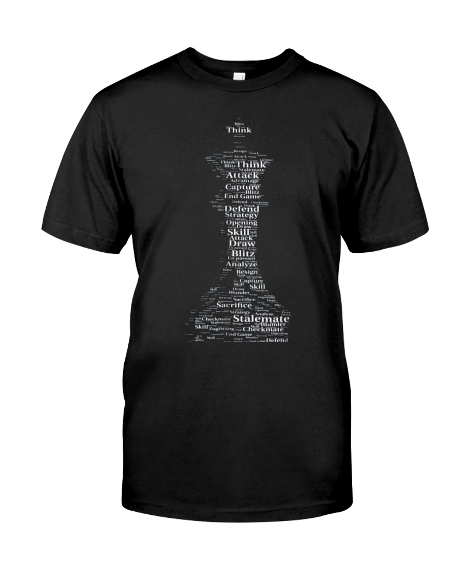 WORD CLOUD CHESS KING TSHIRT Classic T-Shirt