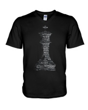 WORD CLOUD CHESS KING TSHIRT V-Neck T-Shirt thumbnail