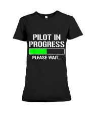 PILOT IN PROGRESS T SHIRT FUNNY FLIGHT SCHOOL STUD Premium Fit Ladies Tee thumbnail