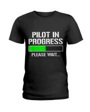 PILOT IN PROGRESS T SHIRT FUNNY FLIGHT SCHOOL STUD Ladies T-Shirt thumbnail