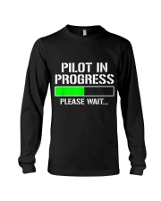 PILOT IN PROGRESS T SHIRT FUNNY FLIGHT SCHOOL STUD Long Sleeve Tee thumbnail