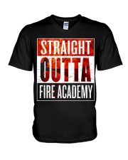 FIRE ACADEMY SHIRT FIREFIGHTER GRADUATION GIFT V-Neck T-Shirt thumbnail