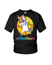 SOFTBALL UNICORN DABBING Youth T-Shirt thumbnail