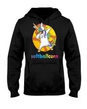 SOFTBALL UNICORN DABBING Hooded Sweatshirt thumbnail