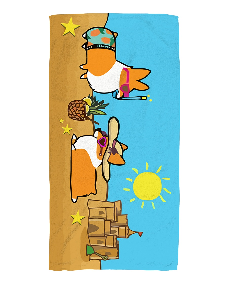 Corgi Beach Towel  Beach Towel