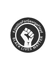Justice for George Floyd - Black Lives Matter Circle Magnet thumbnail
