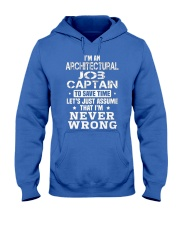 Architectural Job Captain Hooded Sweatshirt front