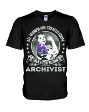 Archivist Become V-Neck T-Shirt thumbnail