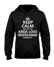 Area Loss Prevention Manager Keep Calm Hooded Sweatshirt thumbnail