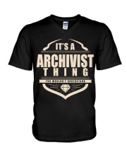 Archivist Only Archivist Would Understand V-Neck T-Shirt thumbnail
