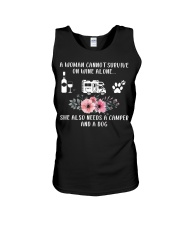 A Woman Cannot Survive On Wine Alon Unisex Tank thumbnail