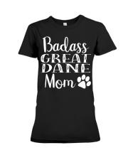 BadAss Great Dane mom Funny Dog Hood Premium Fit Ladies Tee thumbnail