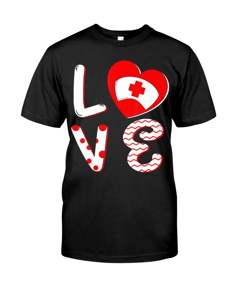 Medical Nurse Valentine Day Shirt  Classic T-Shirt