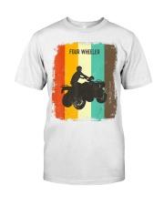 Four Wheeling TShirt Retro 70s Vintage Premium Fit Mens Tee front