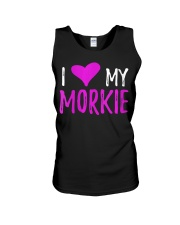 Womens I Love My Morkie T-Shirt Funny Mal Unisex Tank thumbnail