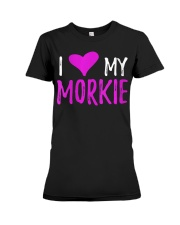 Womens I Love My Morkie T-Shirt Funny Mal Premium Fit Ladies Tee thumbnail