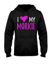 Womens I Love My Morkie T-Shirt Funny Mal Hooded Sweatshirt thumbnail