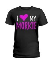 Womens I Love My Morkie T-Shirt Funny Mal Ladies T-Shirt thumbnail
