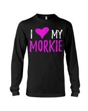 Womens I Love My Morkie T-Shirt Funny Mal Long Sleeve Tee thumbnail