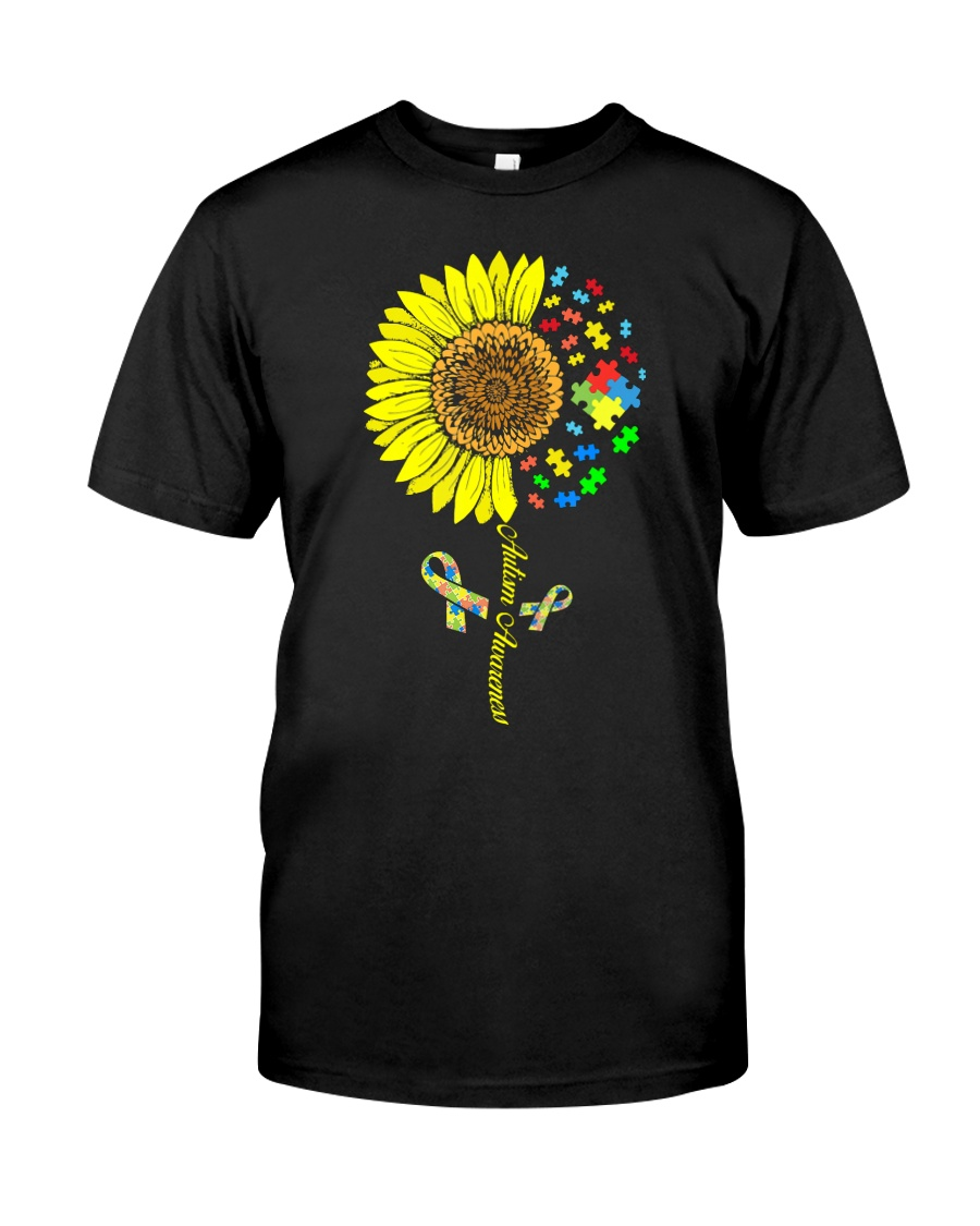 Autism Awareness Sunflower  Classic T-Shirt