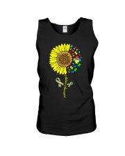 Autism Awareness Sunflower  Unisex Tank tile