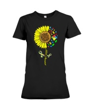 Autism Awareness Sunflower  Premium Fit Ladies Tee tile