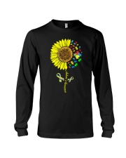 Autism Awareness Sunflower  Long Sleeve Tee thumbnail