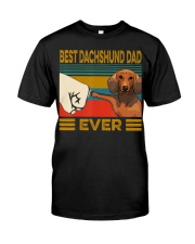 Best Dachshund Dad Ever  Classic T-Shirt front