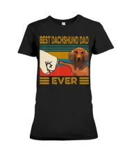 Best Dachshund Dad Ever  Premium Fit Ladies Tee thumbnail