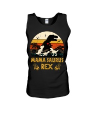 Funny Mamasaurus Rex I Three Kids Mom Unisex Tank thumbnail