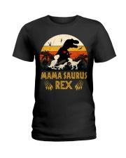 Funny Mamasaurus Rex I Three Kids Mom Ladies T-Shirt thumbnail