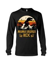 Funny Mamasaurus Rex I Three Kids Mom Long Sleeve Tee thumbnail