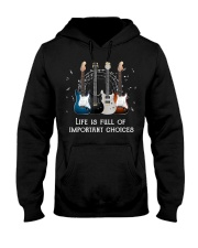 Funny Guitars Lovers Life Is Full O Hooded Sweatshirt thumbnail