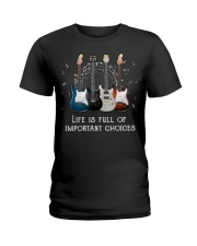 Funny Guitars Lovers Life Is Full O Ladies T-Shirt thumbnail