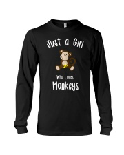 Monkey Shirt for Girls  Long Sleeve Tee thumbnail