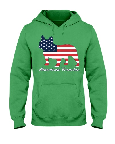 French Bulldog Dog Hoodie - American