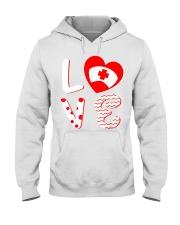 Medical Nurse Valentine Day Shirt Love Hooded Sweatshirt front