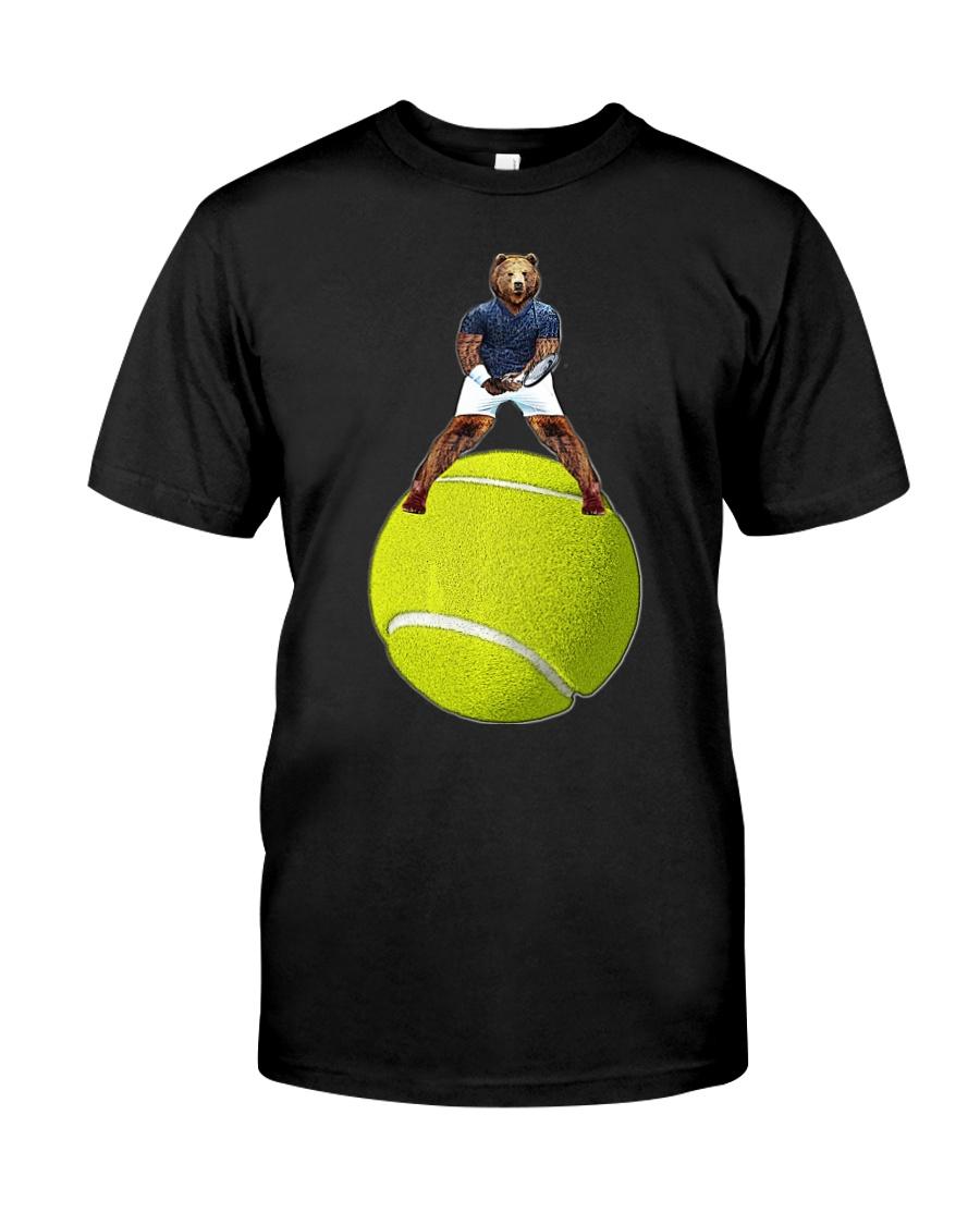 Bear On Tennis Ball Mens - by Behrbone Classic T-Shirt