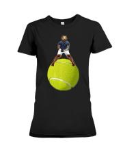 Bear On Tennis Ball Mens - by Behrbone Premium Fit Ladies Tee thumbnail