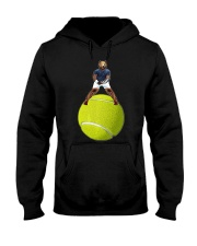Bear On Tennis Ball Mens - by Behrbone Hooded Sweatshirt thumbnail
