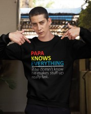 Papa Knows Everything Best Father's Day Gift Crewneck Sweatshirt apparel-crewneck-sweatshirt-lifestyle-04